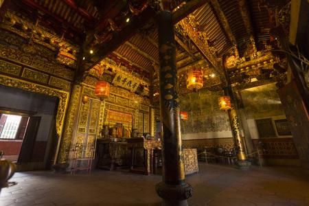 Interior view of Leong San Tong Khoo Kongsi clan house in Penang, Malaysia Editöryel