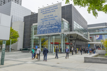 Yerba Buena Center for the Arts near Yerba Buena Gardens in San Francisco