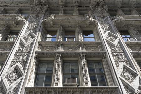 Beautiful detailed of Art Deco Building facade in Manhattan, New York City,USA