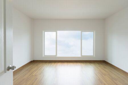 Empty room with wooden floor Zdjęcie Seryjne