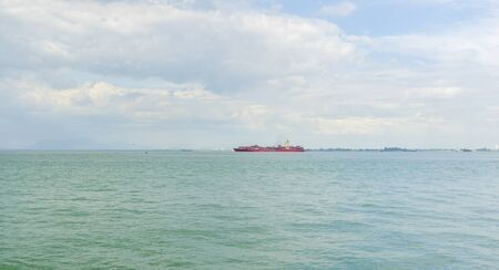 Panoramic view of Penang Port in Butterworth, Malaysia 스톡 콘텐츠