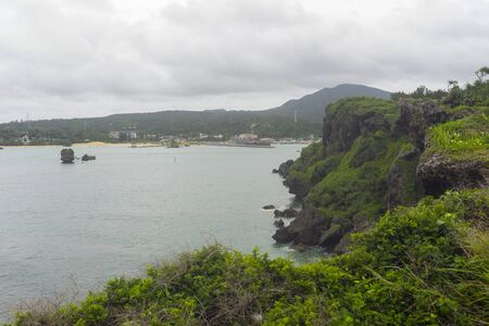 Beautiful Scenery of Manzamo Cape in Okinawa, Japan