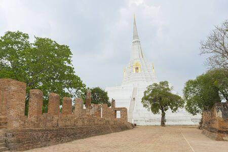 Beautiful chedi of Phukhao Thong in Ayutthaya, Thailand.