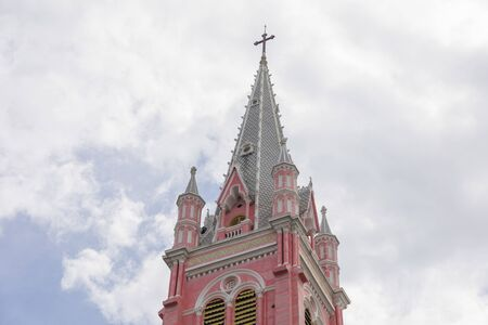 Tan Dinh Church or the Pink Catholic Church in Ho Chi Minh City, Vietnam