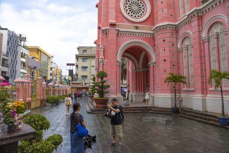 Tan Dinh Church or the Pink Catholic Church in Ho Chi Minh City, Vietnam
