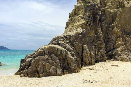 Beautiful landscape at Aharen Beach on Tokashiki Island in Okinawa, Japan.