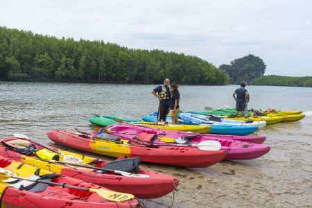 Group of tourist kayak at Ao tha lane, Krabi, Thailand Stock fotó