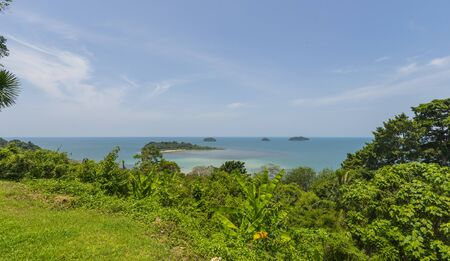 Beautiful tropical island landscape. View from Koh Chang to Koh Man Nai