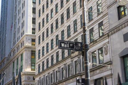 Sign on the Wall Street,NYC,USA.