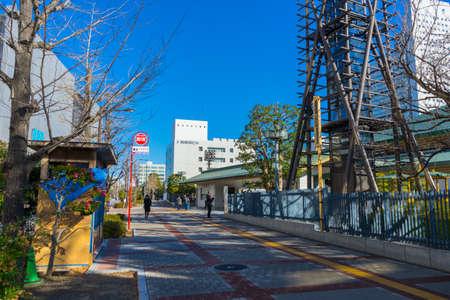 Landscape of Ryogoku Kokugikan ( boxing for Tokyo summer olympic 2020 ) in Tokyo, Japan