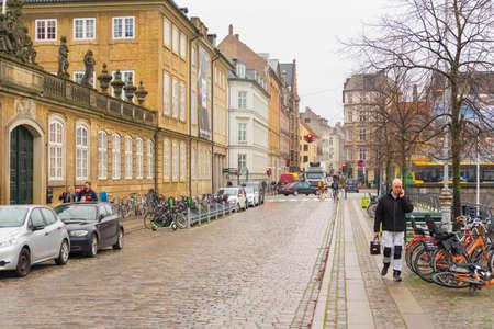 Street life in Copenhagen,Denmark.