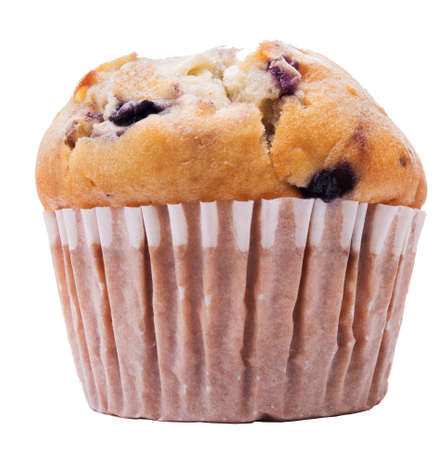 Blueberry muffin isolated on white Stock Photo - 17468889
