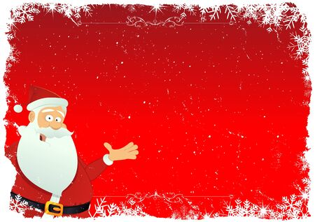 Illustration of a cartoon christmas card background Vector