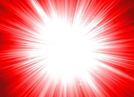Illustratie van een kerst glanzende starburst (Dynamic Editable kleuren)