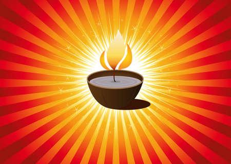 hope symbol of light: Illustration for Diwali festival - indian celebration - or christmas candle Illustration