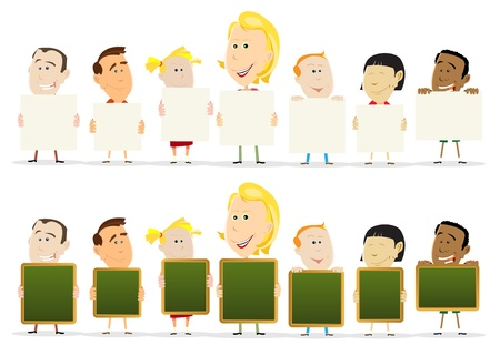 Illustration of a classroom group with children Vector