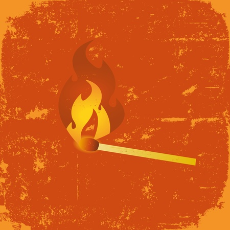 pyromaniac: Illustration of a stylized grunge match poster