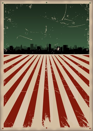 prospectus: Illustration of a Grunge american style fouth of july poster Illustration