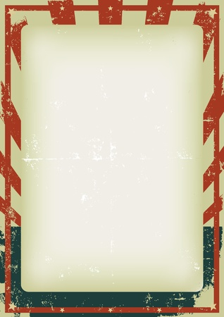 Illustration of a vintage poster background for celebration of fourth of july, american holidays or independence day. Vector