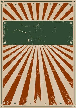 Illustration of a Grunge american style fouth of july poster Vector
