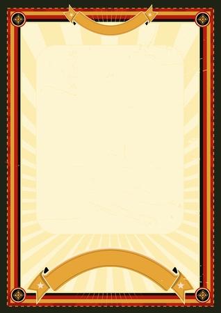 exposition art: Illustration d'un grunge royale affiches de style pour le menu du restaurant, l'annonce d'exposition d'art