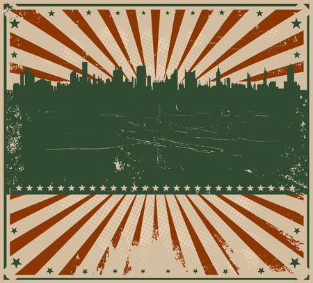 american flag fireworks: Illustration of a fourth of july american poster or leaflet Illustration