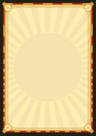 fondo de circo: Ilustraci�n de un cartel de dise�o de fondo para el men� del restaurante, publicidad, diploma o bien Vectores