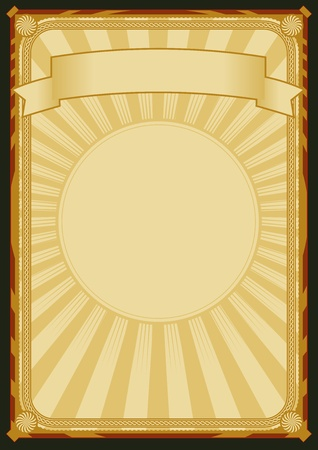 official: Illustration of a vintage retro-styled background poster with banner