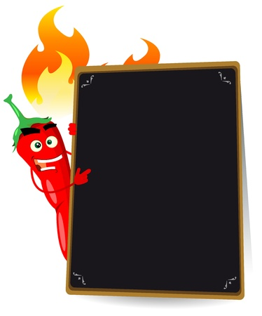 mexican sombrero: Illustration of a cartoon spice menu for mexican food or any hot meal