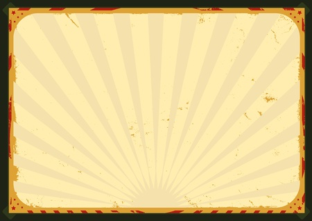 Illustration of a circus poster background for advertisement Vector