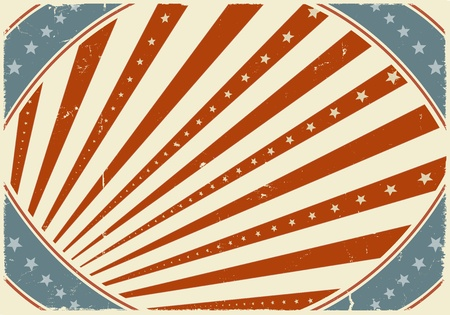 Illustration of horizontal poster background for american holidays, fourth of july, independence day, parties... Vector