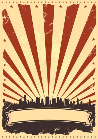 prospectus: Illustration of a vintage poster background for celebration of fourth of july, american holidays or independence day.