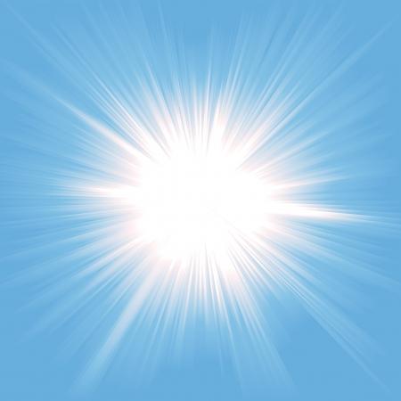 Illustratie van een mooie starburst lichte achtergrond Stock Illustratie