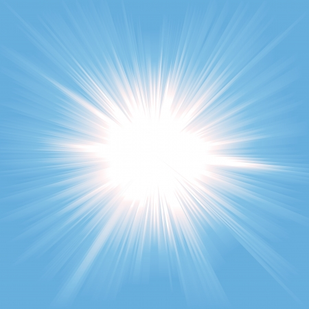 luz solar: Illustration of a beautiful starburst light background
