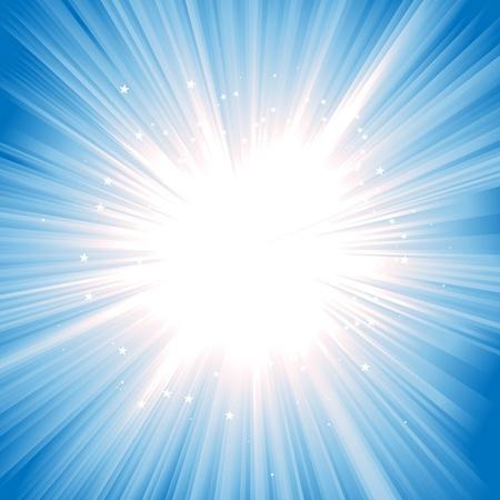 rayos de sol: Starburst brillante o de la tarde