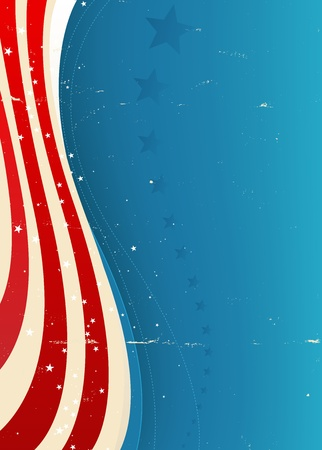 american flag background: Illustration of an american flag background vertical flyer for fourth of july