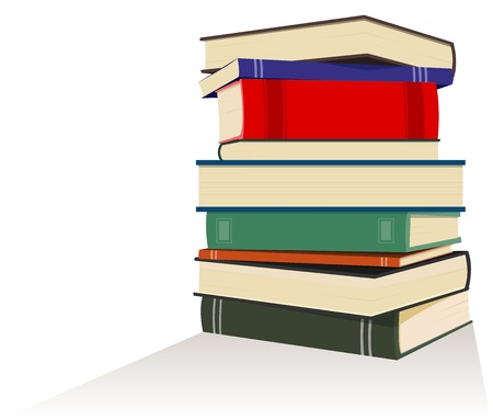 pile of books: Illustration of a books île symbolizing knowledge, teaching, wisdom Illustration
