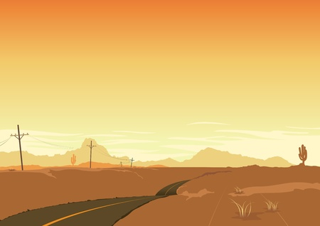 Illustration of a desert landscape