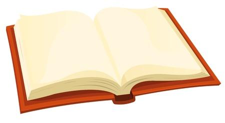 libro caricatura: Ilustraci�n de un dibujo animado icono de libro abierto