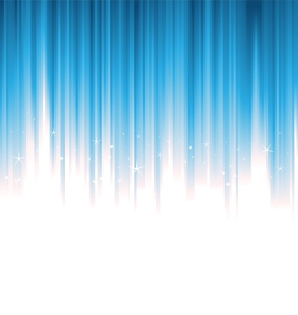 Illustration of blue vertical bright and shiny liferays Vector