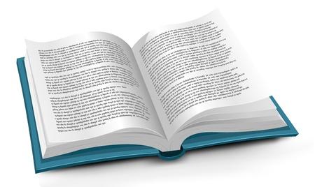 encyclopedias: Ilustraci�n de un libro abierto con la p�gina de mover de un tir�n. No hay ning�n texto latino, este es un texto falso hecho s�lo con puntos!