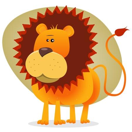 Illustration der König der Dschungel-Tiere, in cartoons Stil Standard-Bild - 12273895