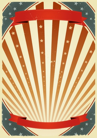 Illustration of a grunge fourth of july summer holidays poster. Use it as a  background for national holidays, circus announcement or entertainement events Vector