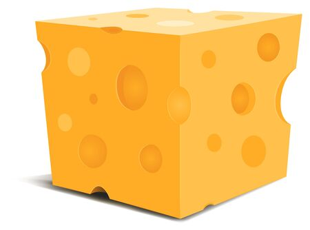 Illustration of a cartoon mouth watering piece of swiss cheese