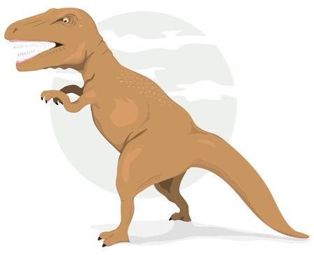 Illustration of a cartoon big prehistoric dinosaur for children bedroom poster Stock Vector - 13472465