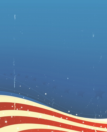 Illustration of an american flag background for fourth of july or memorial day or any national holiday celebration Vector