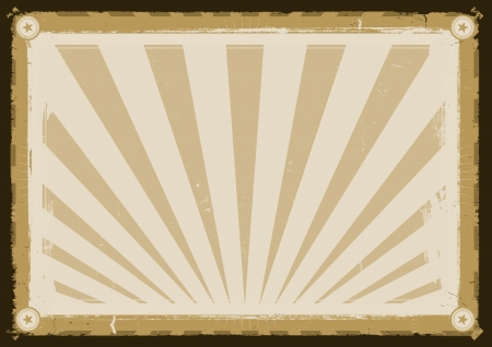 Illustration of a graphic design vintage styled poster background for various advertisement contents Vector