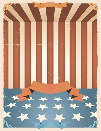 Illustration of an american national holiday background for fourth of july, memorial or flag day and any national holiday celebration Vector