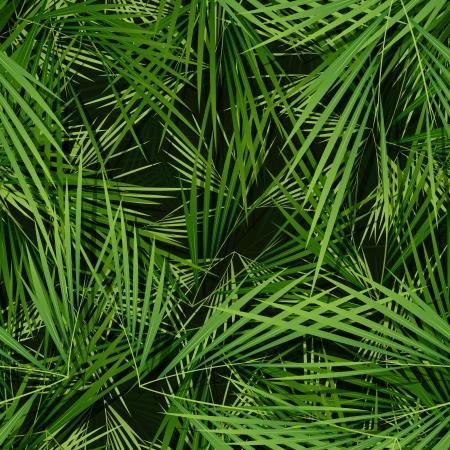 Illustratie van een naadloze wallpaper achtergrond met palmbomen vertrekt naar tropische en vegetatiepatronen