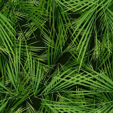Illustration of a seamless wallpaper background with palm trees leaves for tropical and vegetation patterns